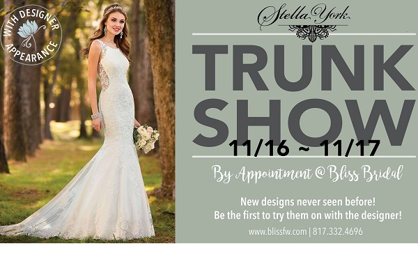 Stella York Trunk Show November 2018